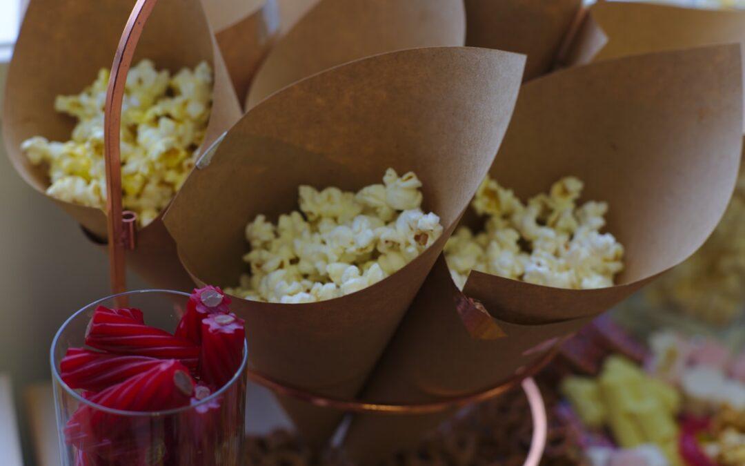 Popcorn på bröllopsfesten